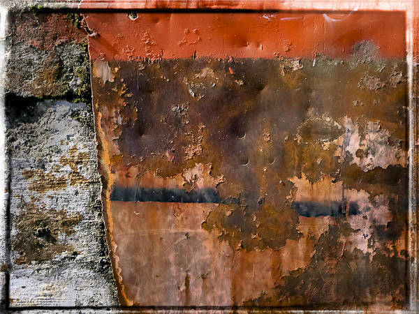Photograph - Rust Wall 3 by Mark Holcomb