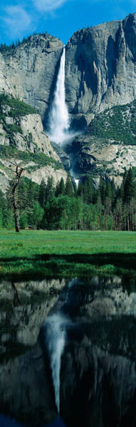 Sierra Nevada Mountain Range Photograph - Upper And Lower Yosemite Falls by Panoramic Images
