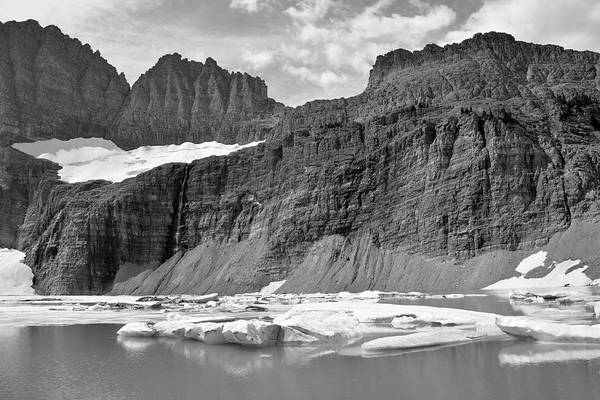 Photograph - Upper Grinnell Lake With Icebergs by Bruce Gourley