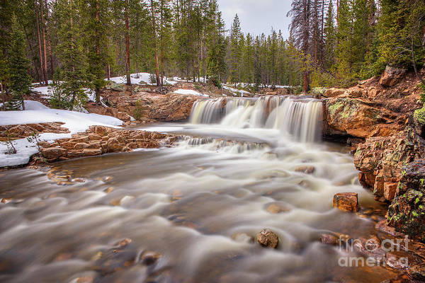 Photograph - Upper Provo River Cascades by Spencer Baugh