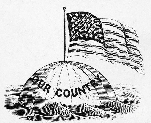 Photograph - U.s. Flag, 19th Century by Granger