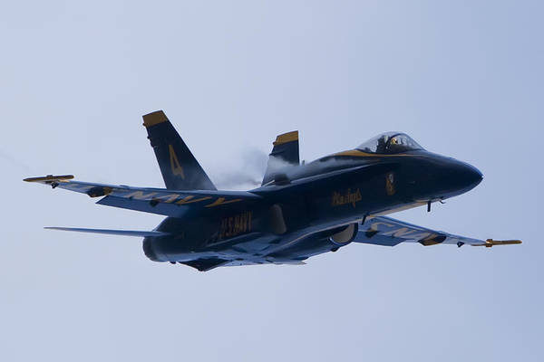 Blue Angels Photograph - Us Navy Blue Angels High Speed Turn by Dustin K Ryan