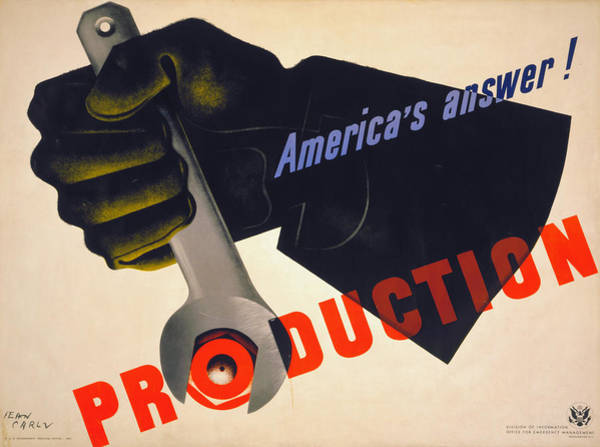 Painting - U.s. World War II Poster.  by Granger