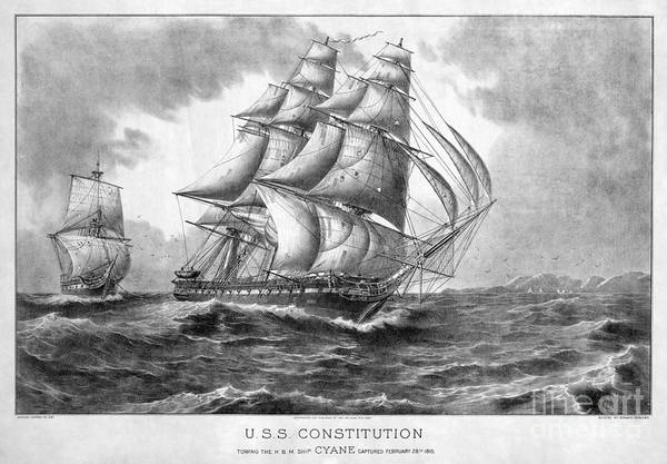Wall Art - Photograph - Uss Constitution, 1815 by Granger
