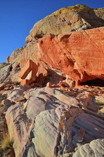 Photograph - Valley Of Fire Sandstone At Sunset by Ray Mathis