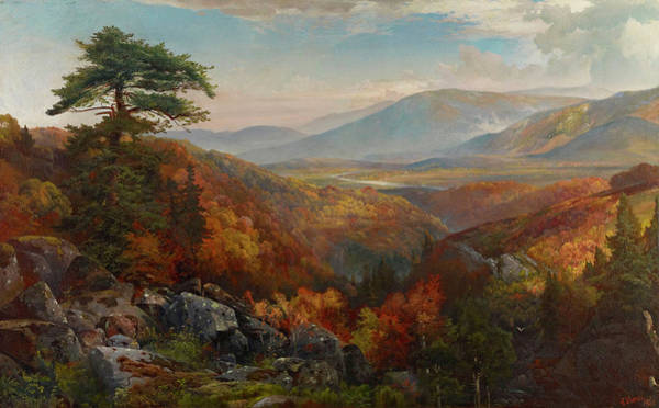 Wall Art - Painting - Valley Of The Catawissa In Autumn by Thomas Moran