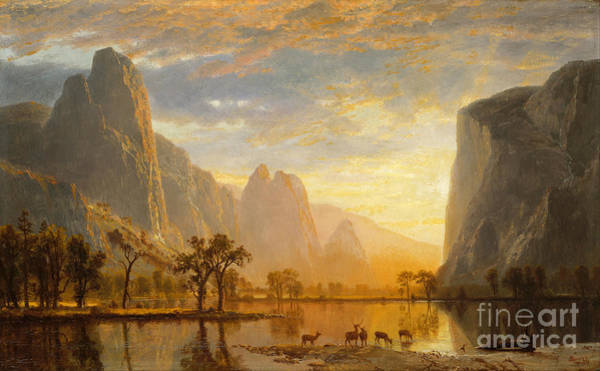 Plein Air Photograph - Valley Of The Yosemite 1864 By Albert Bierstadt by Art Anthology
