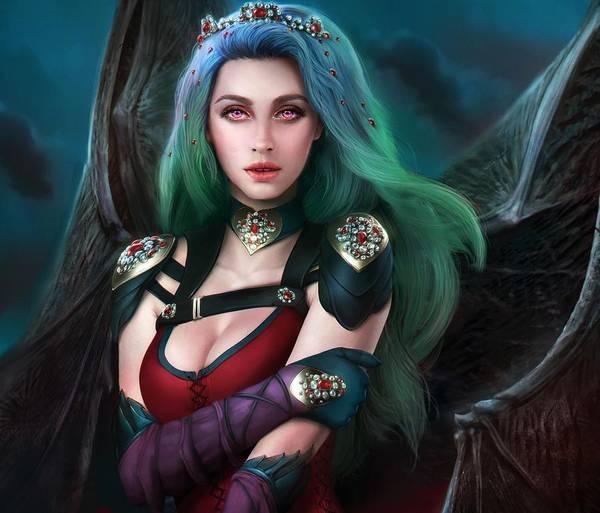 Fashion Digital Art - Vampire by Maye Loeser
