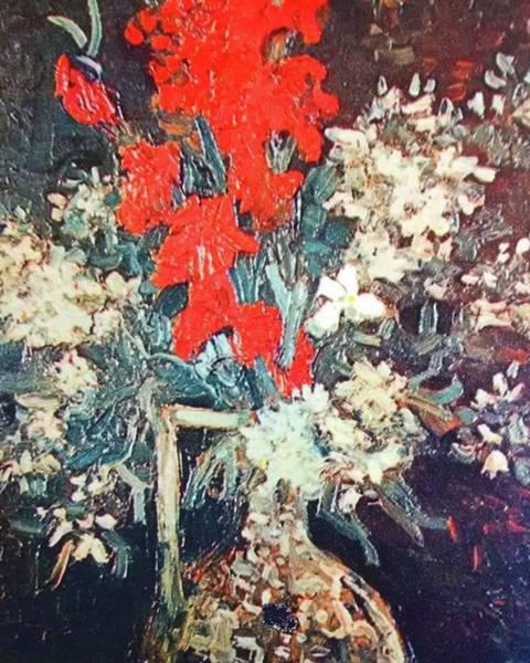 Red Gladioli Art Print
