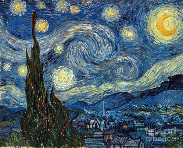 Expressionism Painting - Van Gogh Starry Night by Granger