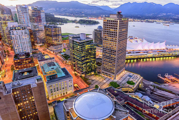 Canada Wall Art - Photograph - View Of Vancouver At Dusk. by Viktor Birkus