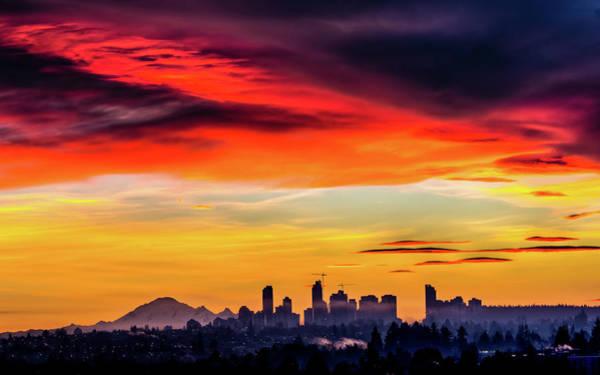 Vancouver City Photograph - Vancouver Sunrise by Ian Stotesbury