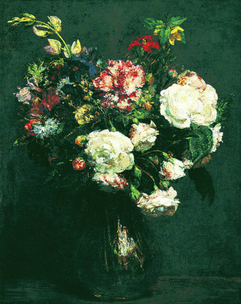 Painting - Vase Of Flowers by Henri Fantin Latour
