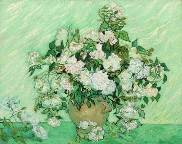 Wall Art - Painting - Vase With Pink Roses by Vincent van Gogh