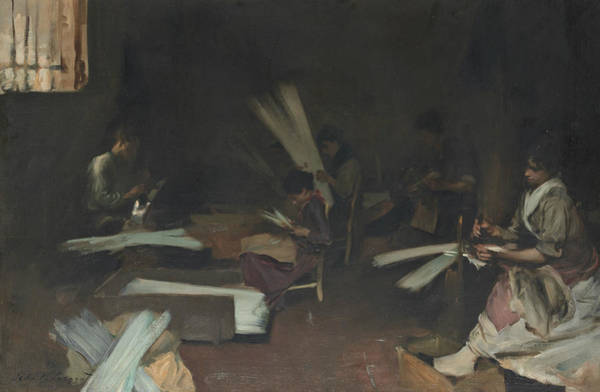 Venetian Glass Workers  Art Print
