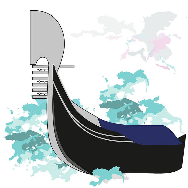 Digital Art - Venetian Gondola by Marina Usmanskaya
