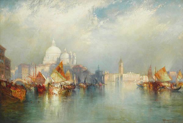 Wall Art - Painting - Venetian Scene by Thomas Moran