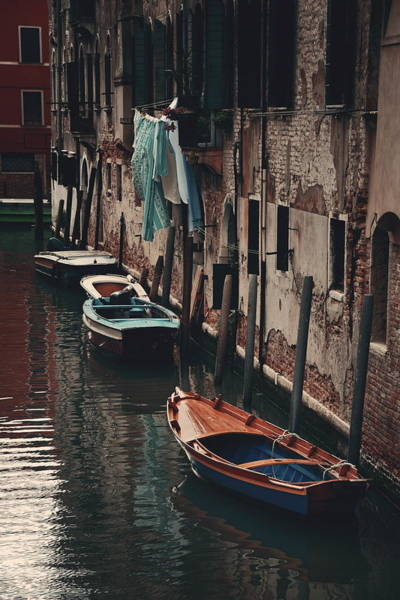 Photograph - Venice Boat Alley by Songquan Deng