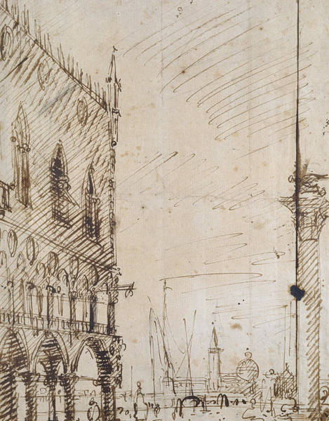 Wall Art - Drawing - Venice by Canaletto