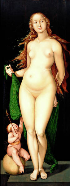 Wall Art - Painting - Venus And Amor by Hans Baldung Grien