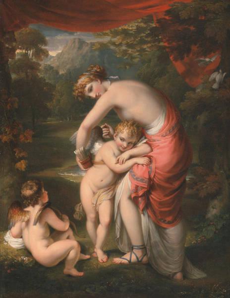 Howard Painting - Venus And Cupid by Henry Howard