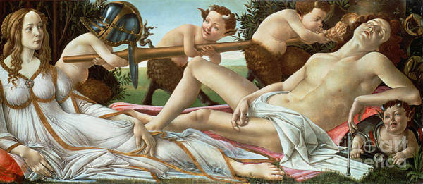 Mythology Painting - Venus And Mars by Sandro Botticelli