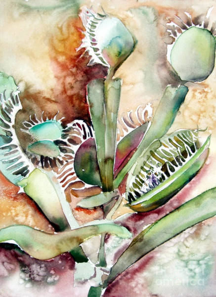 Wall Art - Painting - Venus Fly Trap by Mindy Newman