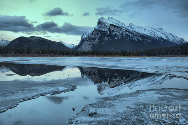 Photograph - Vermilion Lakes Mountain Reflections by Adam Jewell