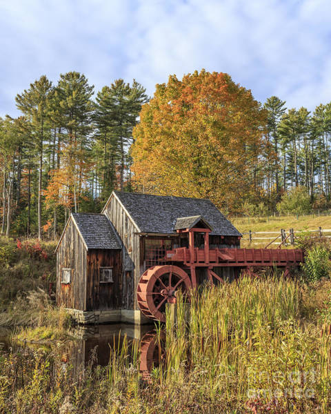 Photograph - Vermont Grist Mill by Edward Fielding