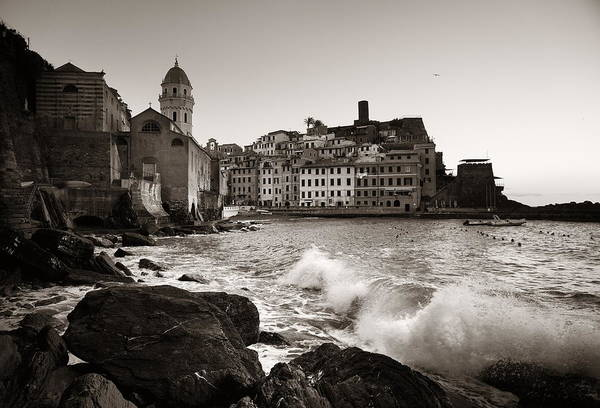 Photograph - Vernazza Buildings And Sea In Cinque Terre by Songquan Deng