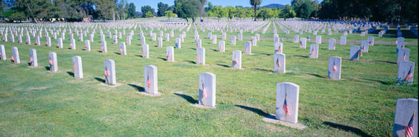 Historical Marker Photograph - Veterans National Cemetery On Veterans by Panoramic Images
