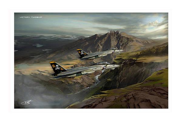 Cockpit Digital Art - Victory Twoship by Peter Van Stigt