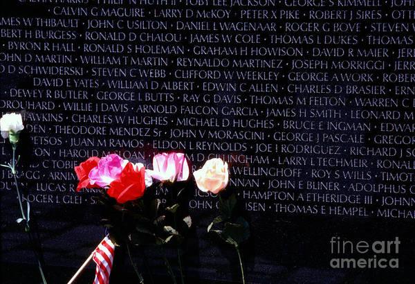 Photograph - Vietnam Veterans Memorial by Thomas R Fletcher