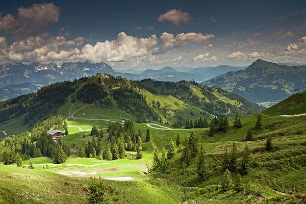 Photograph - View From Hahnenkamm-swarzkogel Trek by Aivar Mikko