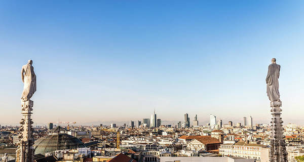 Photograph - View From Milan's Duomo Cathedral Roof by Alexandre Rotenberg