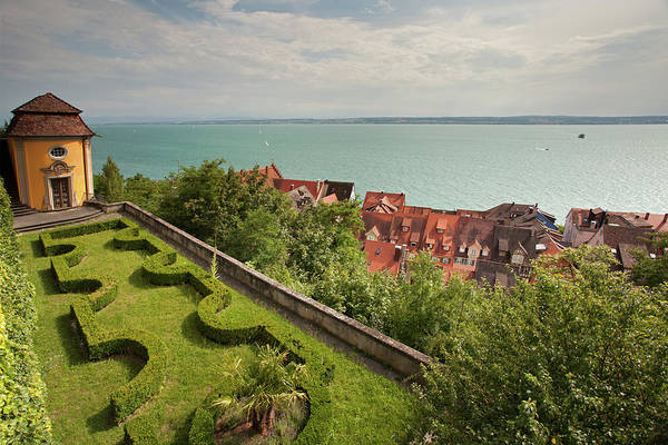 Photograph - View From New Castle Gardens In Meersburg by Aivar Mikko