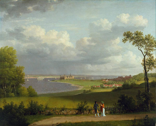 Painting - View North Of Kronborg Castle by Celestial Images