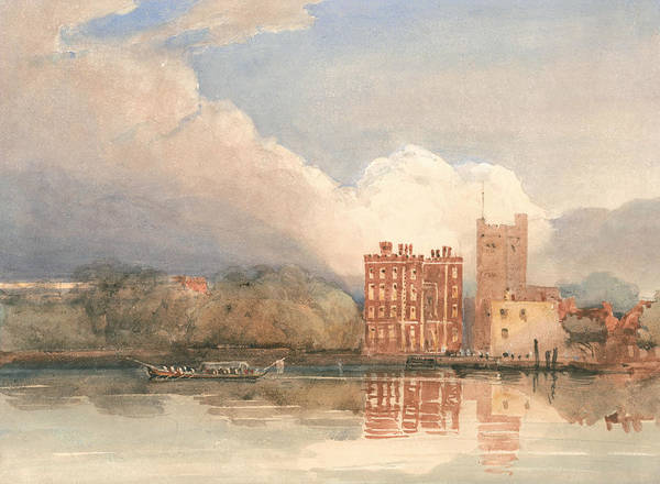 Painting - View Of Lambeth Palace On Thames by David Cox
