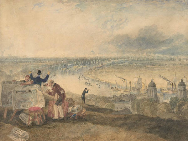 Drawing - View Of London From Greenwich by Joseph Mallord William Turner