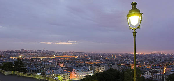 Photograph - View Of Paris City At Sunrise From Montmartre by Pierre Leclerc Photography