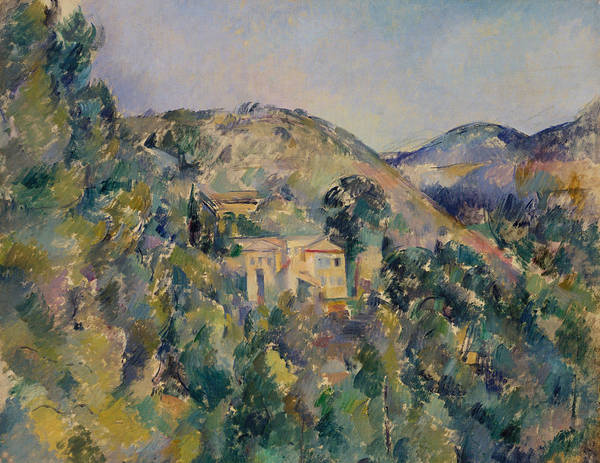Painting - View Of The Domaine Saint-joseph by Paul Cezanne