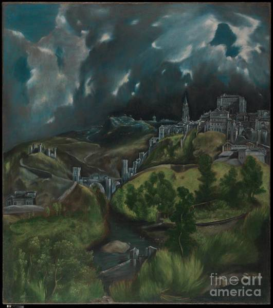 Toledo Painting - View Of Toledo by Celestial Images