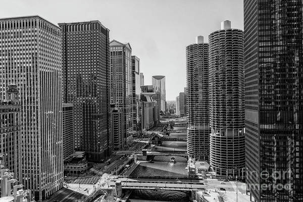 Wall Art - Photograph - View On Chicago Bridges In Black And White by Patricia Hofmeester