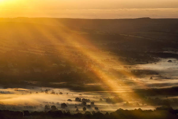 Photograph - View Over The Hope Valley From Mam Tor At Dawn by Neil Alexander