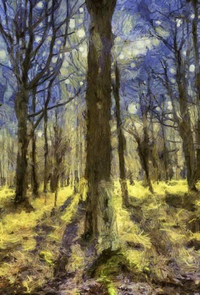 Wall Art - Mixed Media - Vincent Van Gogh Forest Art by David Pyatt