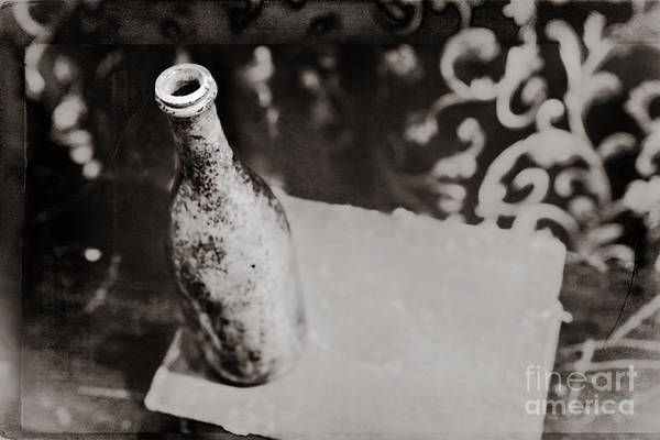 Photograph - Vintage Beer Bottle by Andrey  Godyaykin