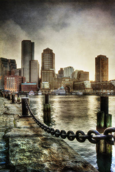 Photograph - Vintage Boston Skyline by Joann Vitali
