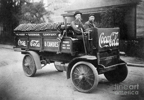 Wall Art - Photograph - Vintage Coke Delivery Truck by Jon Neidert