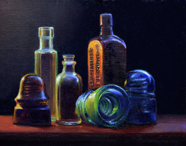 Wall Art - Painting - Vintage Glass by Armand Cabrera