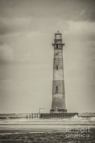 Photograph - Vintage Morris Island Lighthouse by Dale Powell